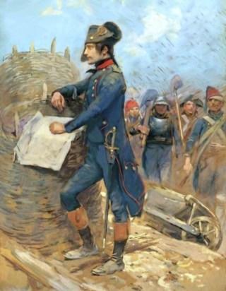Napoleon bij Toulon, Édouard Detaille (Publiek Domein - wiki)