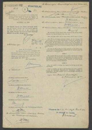 Oprichtingsverdrag van de Europese Gemeenschap voor Kolen en Staal - EGKS (CC0 - Nationaal Archief, Den Haag - wiki)
