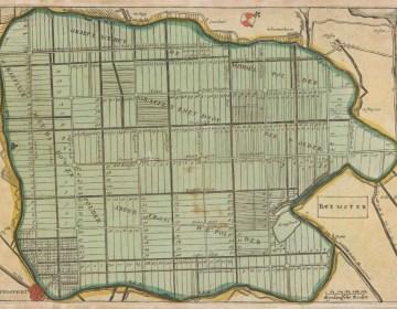Kaart van de ingepolderde Beemster, anoniem, 1735 (gravure). Bron: Wereldgeschiedenis van Nederland