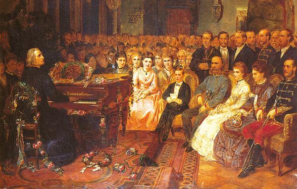 Liszt geeft een concert voor keizer Franz Joseph I