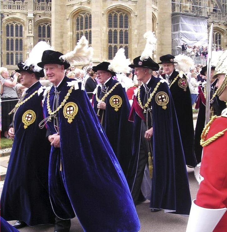 Ridders van de Orde van de Kousenband (CC BY-SA 2.5 - Philip Allfrey - wiki)