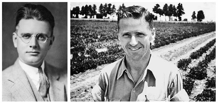 William Vogt in 1940 (l.) en Norman Borlaug in 1944
