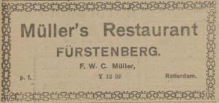 Advertentie van Fürstenberg in de Maasbode
