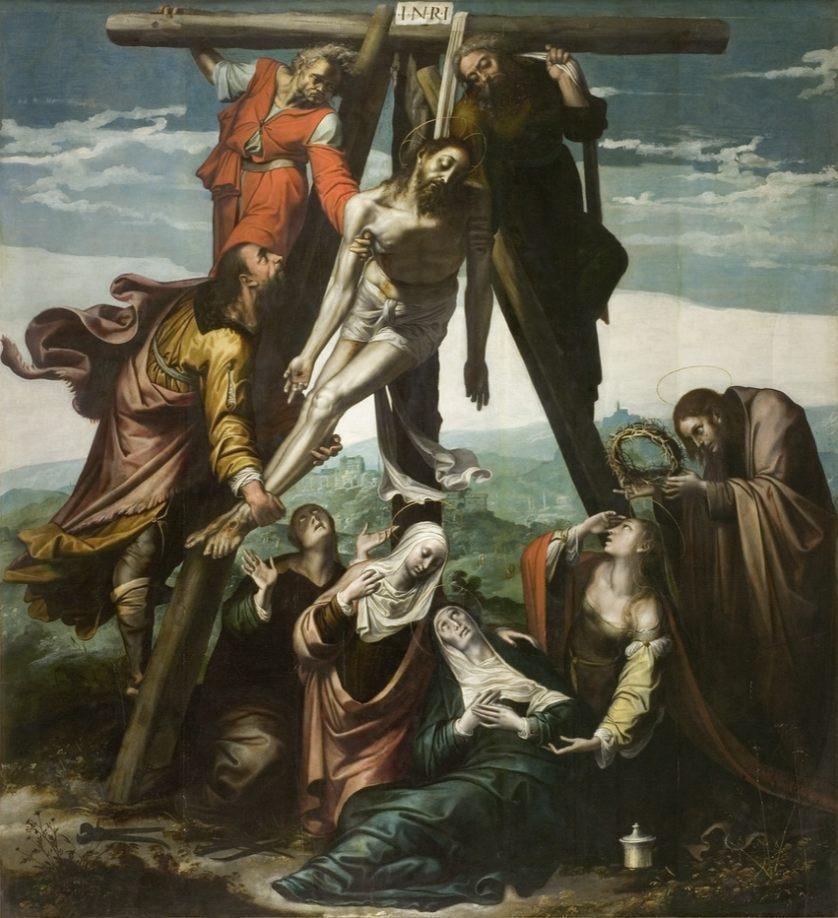 Kruisafneming - Pieter de Kempeneer, Musée Fabre (Publiek Domein - wiki)