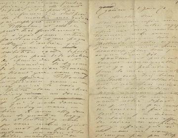 De brief van Claude Monet, 2 juni 1871 - collectie Zaans Museum