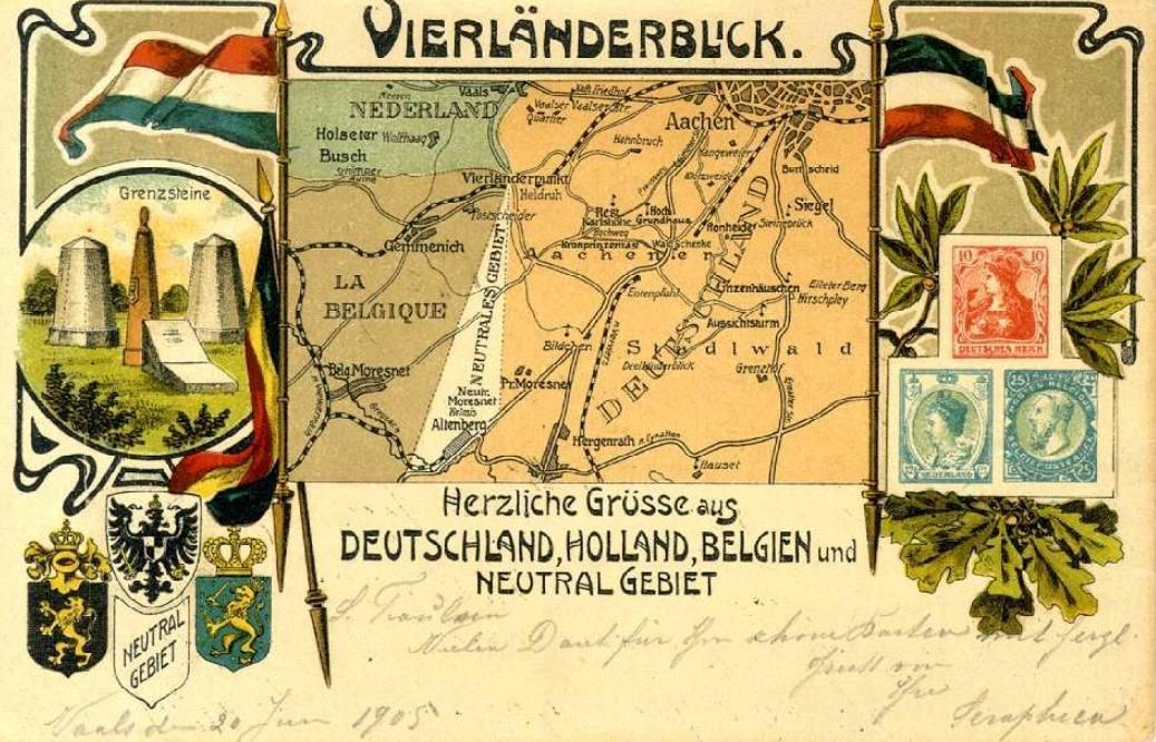 """10 januari 1920: België lijft ministaat """"Neutraal Moresnet"""" in"""