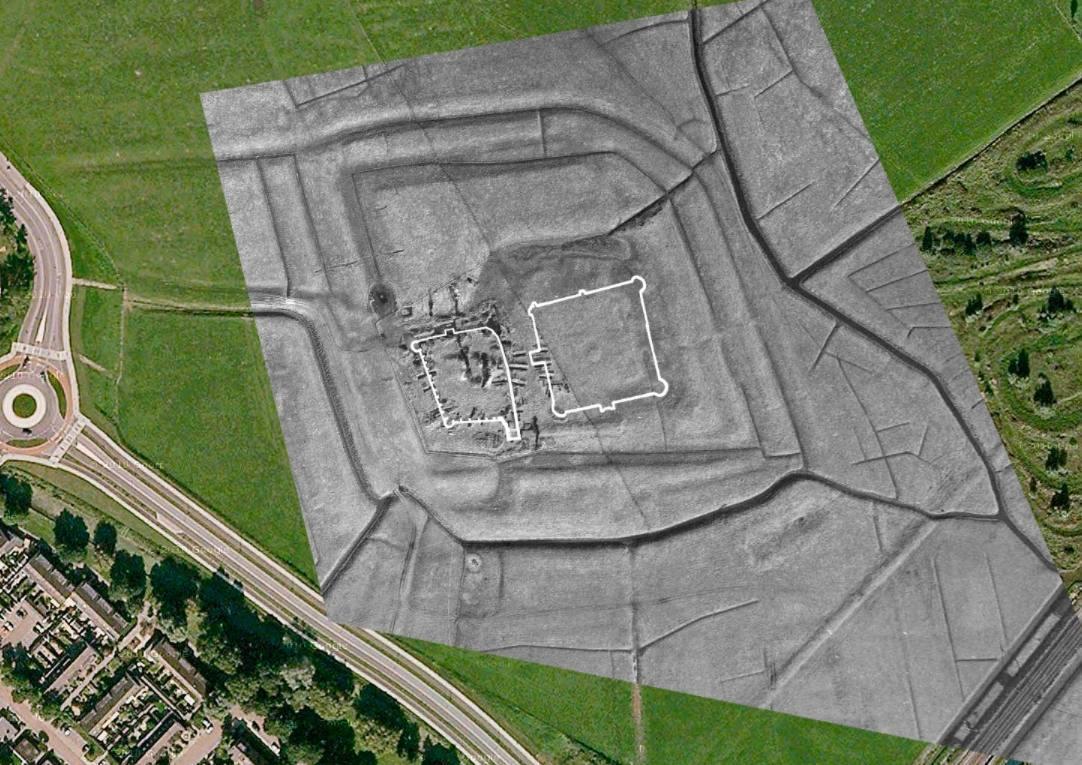 'Voorburcht van Kasteel Oud Haerlem gevonden'