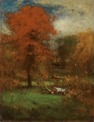 George Inness; The Mill Pond; 1889; oil on canvas; 95.9 x 75.6 cm; The Art Institute of Chicago