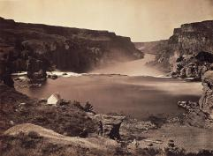Timothy O'Sullivan; Shoshone Falls, Looking Over Southern Half of Falls; 1868; 19.5 x 27.0 cm