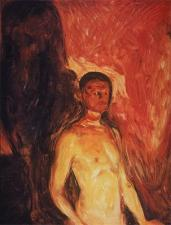 Edvard Munch; Self-Portrait in Hell; 1895; oil on canvas; 82 x 66 cm; Oslo Kummunes Kunstsamlinger