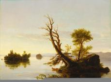 Thomas Cole; American Lake Scene; 1844; oil on canvas; 46.36 x 62.23 cm; The Detroit Institute of Arts
