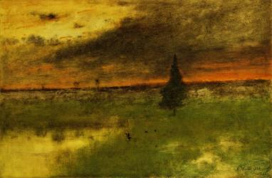 George Inness; The Lonely Pine; 1893; oil on canvas; 77.4 x 114.3 cm; The Detroit Institute of Arts