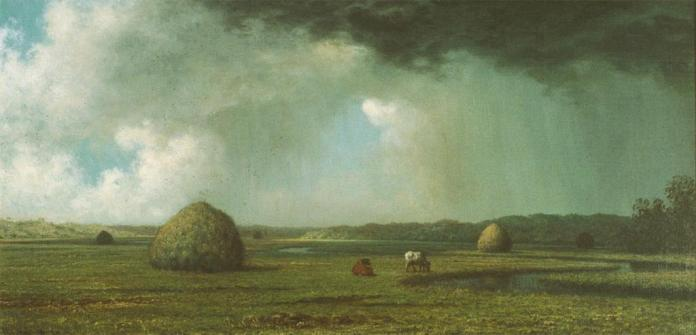 Martin Johnson Heade; Jersey Meadows; c.1865-7; oil on canvas
