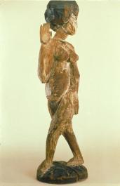 Ernst Ludwig Kirchner; Female Dancer with Necklace; 1910; wood