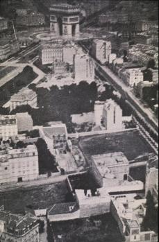 Félix Nadar; Aerial View of the Etoile District of Paris