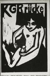 Erich Heckel; Brücke; woodcut; 1910