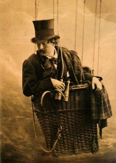 Félix Nadar; Self-Portrait as an Aeronaut; c.1863; albumen print