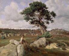 ean-Baptiste-Camille Corot; Le Rageur, Forest of Fontainebleau; c.1830