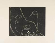 Martin Puryear; Becky, from the Cane portfolio; 2000; woodcut on handmade Japanese paper; 43.0 x 52.2 cm; Princeton University Art Museum