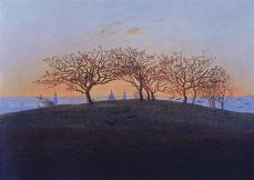 Caspar David Friedrich; Hill and Ploughed Field Near Dresden; 1824; oil on canvas; 22.2 x 30.5 cm