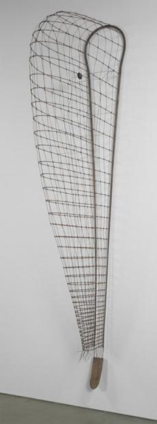 Martin Puryear; Greed's Trophy; 1984; steel rod and wire, wood, rattan, and leather; 388.6 x 50.8 x 139.7 cm; The Museum of Modern Art