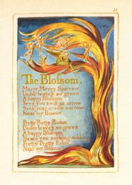 William Blake; The Blossom; 1749; etching with watercolor; 21.6 x 13 cm; Library of Congress, Washington D.C.