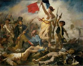 Eugène Delacroix; Liberty Leading the People; 1830; oil on canvas; 260 x 325 cm; Musee du Louvre