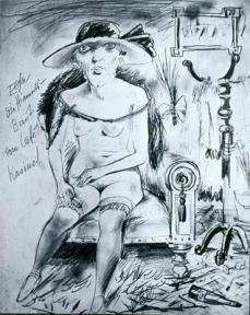 Otto Dix; Countess Elsa (detail, study for a painting); 1922
