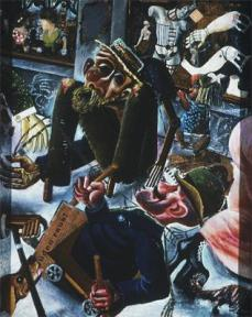 Otto Dix; Prager Strasse; 1920; oil on canvas with collage; 100 x 80 cm