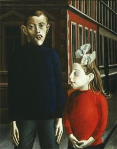 Otto Dix; Two Children; 1921; 95 x 76 cm