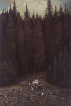 Ged Quinn; The Ghost of a Mountain; 2005; oil on linen; 267 x 183 cm