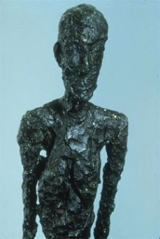 Alberto Giacometti; Man Walking (detail head and chest); 1960; bronze; Kunsthalle Basel