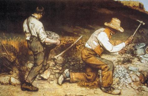 Jean Gustave Courbet; The Stone Breakers; 1849