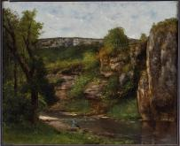 Jean Gustave Courbet; Landscape with Fisherman; 1872; oil on canvas