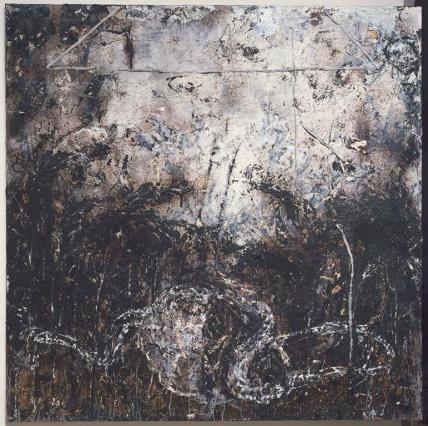 Anselm Kiefer; Untitled; 1984; mixed media with lead on linen; 280.7 x 280.7 cm; Museum of Fine Arts, Boston