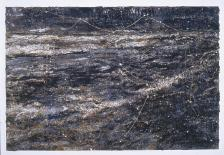 Anselm Kiefer; Journey to the End of the Night (Voyage au bout de la nuit); 2004; oil, acrylic, and emulsion on canvas with metal strips; 190.5 x 283 cm