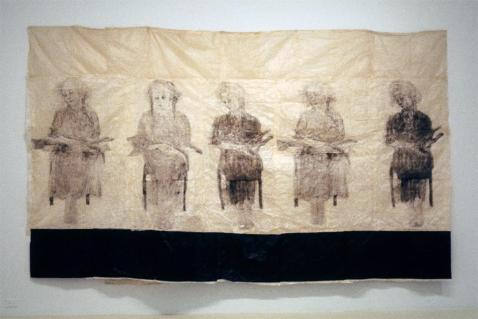 Kiki Smith; Pieta; 1999; ink on paper; 92 x 151.5 inches