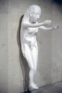 Kiki Smith; Tied to Her Nature; 2002; plaster and foam; 44 x 87 x 25 inches