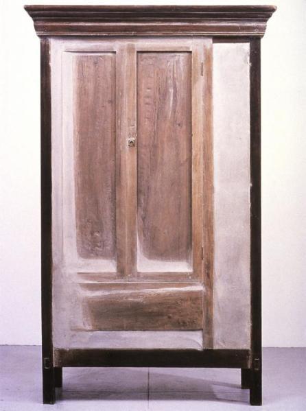 Doris Salcedo; Untitled; 1998; wood, concrete, metal; 200.5 x 124.5 x 51.5 cm