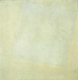 Kazimir Malevich; White Square on White; 1918; oil on canvas; 31 x 31 inches