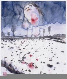 Anselm Kiefer; Winter Landscape (Winterlandschaft); 1970; watercolor, gouache, and graphite pencil on paper; 42.9 x 35.6 cm