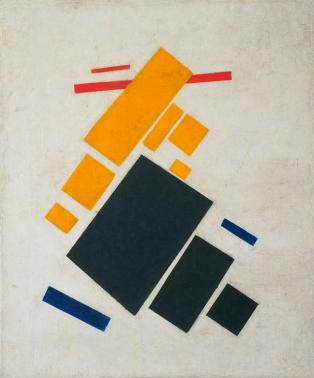 Kazimir Malevich; Suprematist Composition: Airplane Flying; 1915; oil on canvas; 58.1 x 48.3 cm; The Museum of Modern Art