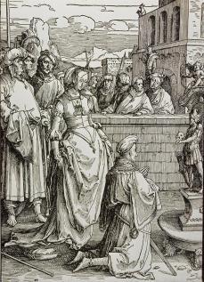 "Lucas van Leyden; Power of Women Series, ""Solomon's Idolatry""; 1513-14; woodcut"