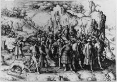 Lucas van Leyden; The Conversion of Saint Paul; 1509; engraving; 286 x 414 mm