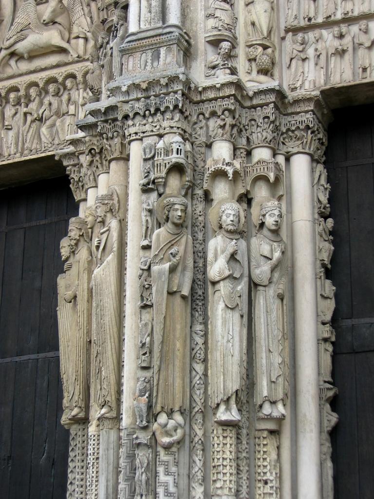 Catedral de ChartresPrtico Real parteluz  Clo 30