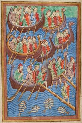 A 12 century depiction of the invading Vikings