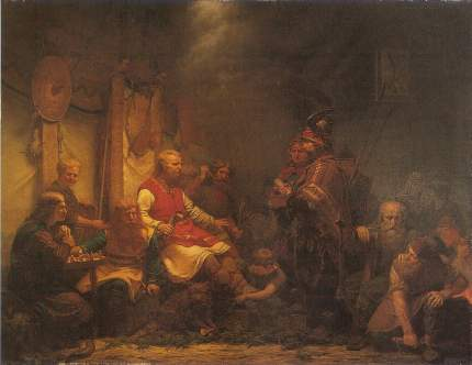 King Ella's messengers before Ragnar Lodbrok's sons (August Malmström)