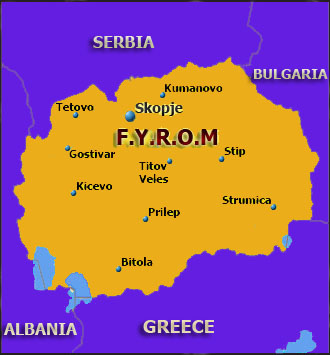 FYROM map