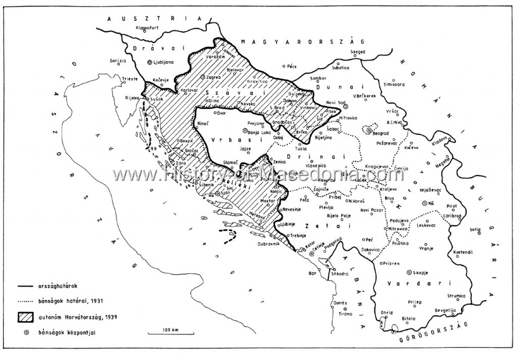 178 1024x699 Η Βαρντάρσκα Μπανόβινα σε σπάνιους Χάρτες, Γραμματόσημα και Διπλώματα της Γιουγκοσλαβίας