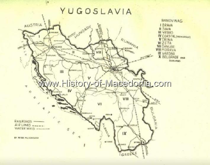 angloyugoslavreview Η Βαρντάρσκα Μπανόβινα σε σπάνιους Χάρτες, Γραμματόσημα και Διπλώματα της Γιουγκοσλαβίας